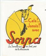 XX  // French Old Blotting / Blotter // à Saisir Achat Immédiat @ Buvard Ancien Semelle Chaussure Sorpa - S