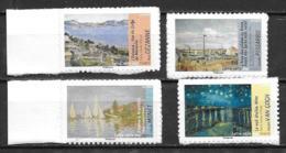 France 2013 Timbres Adhésifs Neufs N°826A, 828A, 829A Et 835A Dynamiques à La Faciale - Adhésifs (autocollants)