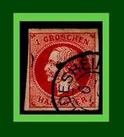 ".1859 Altdeutschland Hannover Mi. 14  Gestempelt "" König Georg V."" (0A9B) - Hannover"