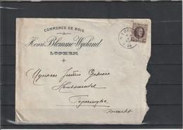 België Brief Met Nr 196, Afgestempeling Lophem 07/07/1923, Zeer Mooi Lot Nr K1229 - 1922-1927 Houyoux