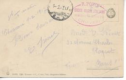 Guerre 14 18 CHIAVARI Italie Cachet CROIX ROUGE COMITATI DI DISTRETTO CROCE ROSSA ITALIANA 1917 ....G - Zonder Classificatie