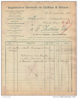 13 AIX EN PROVENCE FACTURE 1928 Exploitation De Chiffons & Métaux F. MATHIEU Fils  -  M12 - 1900 – 1949