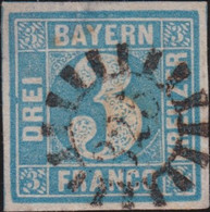 Bayern   .   Michel   .  2-II ( (2 Scans)      .    O     .     Gebraucht  .    /     .   Cancelled - Bavaria