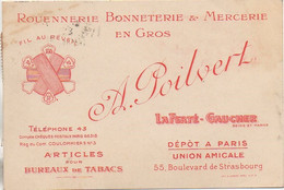 77 LA FERTE-GAUCHER Carte Publicitaire - La Ferte Gaucher