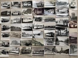 TRES BEAU LOT DE 46 PHOTOS SUR LES TRAMS - ZEER MOOI LOT VAN 46 FOTO'S VAN TRAMS. - Strassenbahnen