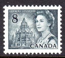 CANADA - 1971 QEII 8c SLATE-BLACK DEFINITIVE STAMP PERF 12½ X 12 FINE MNH ** SG 610 - Nuovi