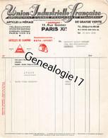 75 22453 PARIS SEINE 1952 UNION INDUSTRIELLE FRANCAISE Groupement Usines UNIFRANC Rue Gambey CAMPING BUTA SPORT - 1900 – 1949