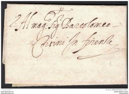 TOSCANA 1604, Faltbrief Von Sienna Nach Firenze. - Toscane