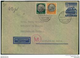 """1941, Luftpost Ab PIRNA COPITZ Nach Santiago De Chile. Zensur Durchlaufstempel """"Ae"""" - Cartas"""