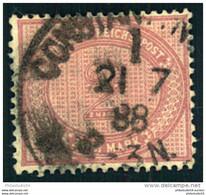 1888, Vorläufer, 2 Mark Mittelrosalila, Gestempelt CONSTANTINOPEL 1  Michel 500,- - Ufficio: Turchia