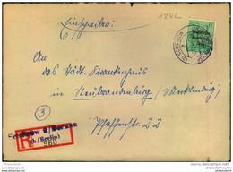 1948, Einschreiben, Not-R-Zettel (2) SCHÖNOW über BERNAU (b. BERLIN), Maschinenaufdruck - Brandenburg - Soviet Zone