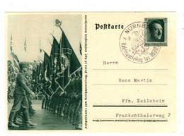POSTKARTE - Festpostkarte Zum Reichsparteitag - Nürnberg 1937 - Reichsparteitag Der NSDP - Historia