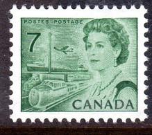 CANADA - 1971 QEII 7c MYRTLE-GREEN DEFINITIVE STAMP PERF 12½ X 12 FINE MNH ** SG 609 - Nuovi