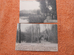 2 Cpa Watermael Watermaal Boitsfort Bosvoorde Sous Bois Rue Près De L'étang Attelage - Watermael-Boitsfort - Watermaal-Bosvoorde
