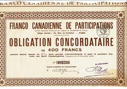 75-FRANCO CANADIENNE DE PARTICIPATIONS.  Obligation - Other