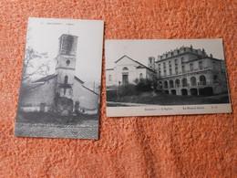 2 Cpa Watermael Watermaal Boitsfort Bosvoorde église Et Maison Haute - Watermael-Boitsfort - Watermaal-Bosvoorde
