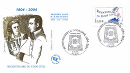 Enveloppe 1er Jour Bicentenaire Du Code Civil, 2004 (YT 3644) - 2000-2009