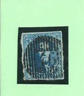 OCB 7 - Afstempeling D46 PALISEUL - COBA 20 - 1849-1865 Medaillen (Sonstige)