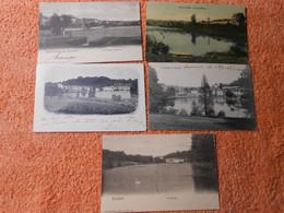 5 Cpa Watermael Watermaal Boitsfort Bosvoorde Les étangs - Watermael-Boitsfort - Watermaal-Bosvoorde