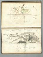 St MAIXENT L'Ecole - Carnet D'exercice D'un élève Aspirant D'Entrevaux Tenu  Mai > Août 1918  - 50 Pages  Avec Croquis - 1914-18