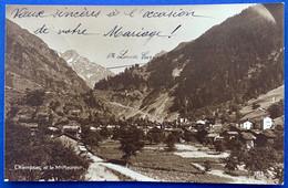 VAL DE BAGNES: 1922 - CHAMPSEC - BELLE VUE DU VILLAGE - VS Valais