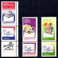 USA. N°1274-9 De 1980. Semaine De La Correspondance. - Nuovi