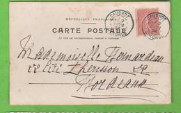 OBLITERATION VERDATRE CAUDROT GIRONDE DE 1904 SUR CARTE POSTALE  SUR CARTE POSTALE - Manual Postmarks