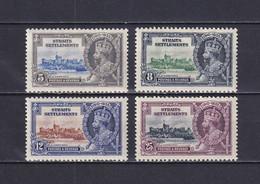 STRAITS SETTLEMENTS 1935, SG# 256-259, Architecture, Silver Jubilee, MH - Straits Settlements