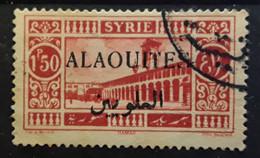 ALAOUITES 1925, Yvert No 28 A, 1,50 P Rouge Avec VARIETE SURCHARGE NOIRE , Obl TB - Oblitérés