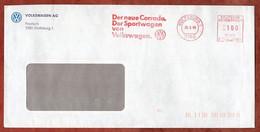 Brief, Pitney Bowes E11-0105, Corrado Volkswagen, 100 Pfg, Wolfsburg 1989 (1563) - Poststempel - Freistempel