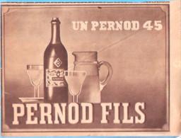 """Publicité-Un Pernod 45 -Pernod Fils-Vient D'une Revue Belge """"Le Patriote Illustré"""" Du 29 Décembre 1946 - Alkohol"""