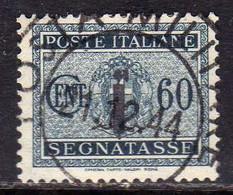ITALIA REGNO ITALY KINGDOM 1944 REPUBBLICA SOCIALE ITALIANA RSI TASSE POSTAGE DUE TAXES SEGNATASSE FASCIO CENT.60c USATO - Impuestos