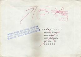 Macedonia RETOUR Letter Greece 1994 Meter Stamp - Mazedonien