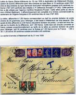 Lettre Le Havre Suisse 1930 Perforation C.P 342 Taxée Suisse - Perfin