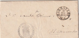 """Thurn Und Taxis - 1851 - Vorphila-Brief K2 """"DARMSTADT"""", Innen """"Grossh. Hess. Reg. Comm."""" (D581) - [1] Préphilatélie"""