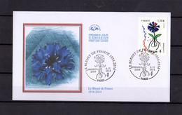 """"""" LE BLEUET DE FRANCE """" Sur Enveloppe 1°Jour De 2014. N° YT 4907. En Parfait état. FDC - 2010-...."""