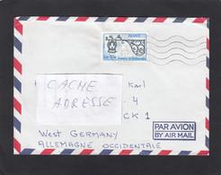 """LETTRE DE THIAIS AVEC TIMBRE  """"JOURNEE DU TIMBRE 1977,FER FORGE"""". - Lettres & Documents"""