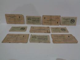 Lote De 10 Billetes Municipales De Amer. 50 Centims Y 1 Pesseta. 1 Maig 1937. Guerra Civil De España. - Otros