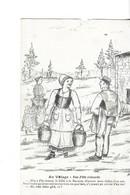 """CPA ILLUSTRATEUR CHARENTAIS  A.DUCHÊNE   Au Village  """" Une Fille Veinarde T""""  Voyagée  1910? - Altre Illustrazioni"""