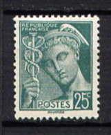 411** - TYPE MERCURE - Unused Stamps