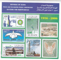 Stamps SUDAN 2006 SC 588 590 INDEPENDENCE 50 ANNIV, IMPERF S/S # 53 - Soudan (1954-...)