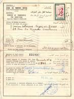 MAROC - 31-12-1961 - CARTE PERMIS DE CONDUIRE Du SERVICE Des TRANSPORTS ROUTIERS De RABAT CHELLAH => CASABLANCA - Morocco (1956-...)