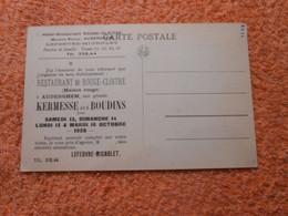 Cpa AUDERGHEM-OUDERGEM -publicité Restaurant Rouge Cloitre Kermesse Boudins - Auderghem - Oudergem