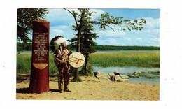 MINNESOTA, USA, Chief Odawa Littlecreek In Full Headdress, 1953 Chrome Postcard - Amerika
