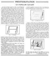 """"""" PRESTIDIGITATION-MAGIE - ILLUSION  """"  ( LE PAPILLON SAVANT ) Par Le PREDTIDIGITATEUR  """" ALBER """"    1935 - Unclassified"""