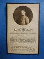 FAIRE PART DECES POILU  MILITAIRE WWI  SOUS LIEUTENANT MULSANT 33 EME REGIMENT ARTILLERIE  10 OCTOBRE 1916 - Documenti