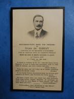 FAIRE PART DECES POILU  MILITAIRE WWI CAPITAINE 53 EME REGIMENT ARTILLERIE 7 OCTOBRE 1918 SUITE MALADIE GUERRE - Documenti