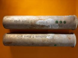 2 Cartouches Allemande Daté 1942 Ww2 Pistolet Lance Fusé Signal 3 étoiles Vertes - Armes Neutralisées