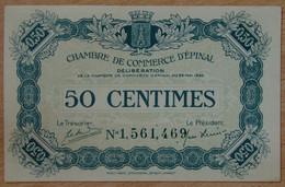 EPINAL ( 88  ) 50 Centimes Chambre De Commerce 29 Mai 1920 - Cámara De Comercio