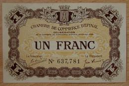 EPINAL ( 88  ) 1 Franc Chambre De Commerce 29 Mai 1920 - Cámara De Comercio